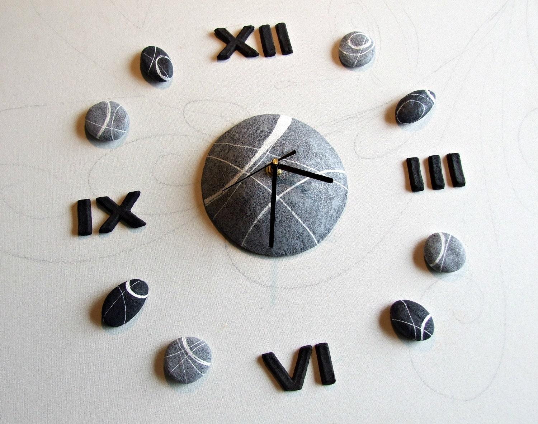 Orologio da parete moderno orologio componibile numeri romani - Orologi da parete moderni grandi ...