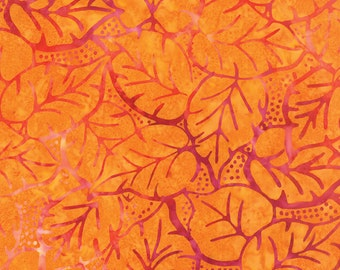 Orange Batik Fabric - Catalina Batik for Moda Fabrics - Sunrise 4329 11 - 1/2 yard