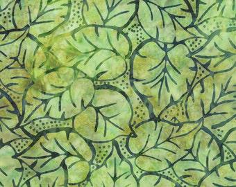Green Batik Fabric - Catalina Batik for Moda Fabrics - Tropical 4329 41 - 1/2 yard