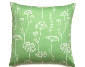 Floral Pillow, 18x18 Pillow Cover, Green Decorative Pillows, Throw Pillow covers, Modern Cushion Covers, Waverly Simplicity