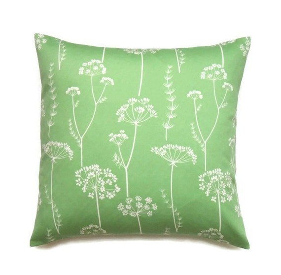 Unique Throw Pillow Covers 18x18 : Floral Pillow 18x18 Pillow Cover Green Decorative by ThePillowToss