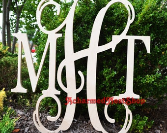 10x14 wooden monogram letters great for weddings birthdays gifts nursery and home decor