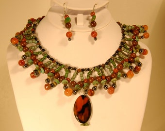 "S0906-""Earth Goddess"" Necklace & Earring Set"