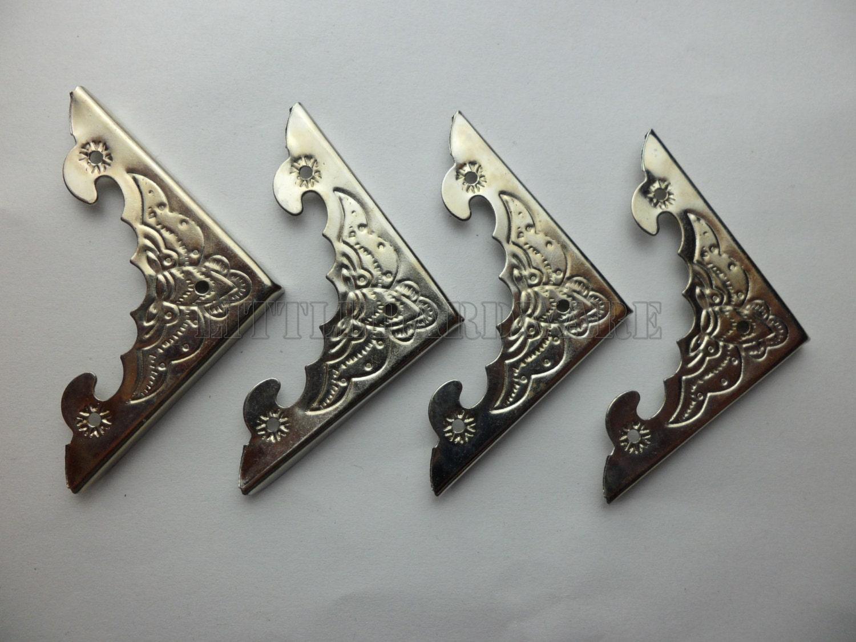 Rose Gold Shelf Brackets: 40PCS 39mmX39mmX5mm Silver Jewelry Box Corner Decoration