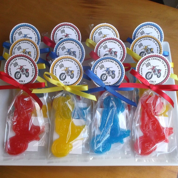 Motorcycle Party 10 Soap Favors Dirt Bike Birthday Party