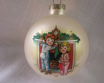 Vintage Campbell Soup Kids 1985 Christmas Ornament