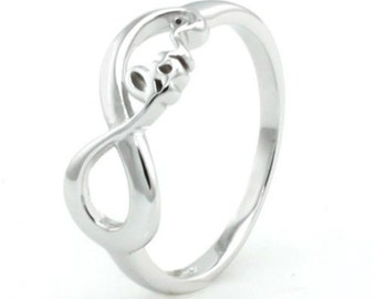 Sterling Silver Infinity Love Ring Made In U.S.