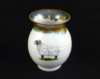 Vase with Sheep and Trim