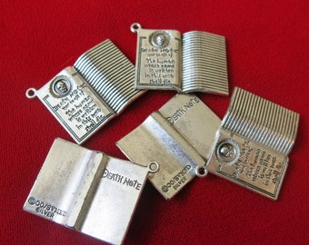 """5pc """"death note"""" charms in antique silver style (BC5)"""