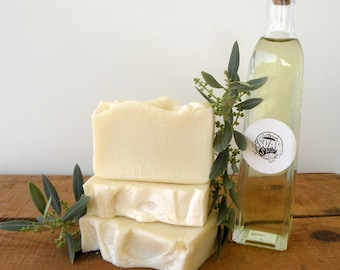 100% Olive Oil Soap for Sensitive Skin Unscented Handmade Soap.
