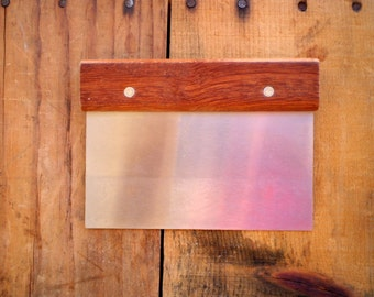 Soap Cutter- Straight Soap Cutting Tool - Stainless Steel - Wood Handle - Soap Making Supplies
