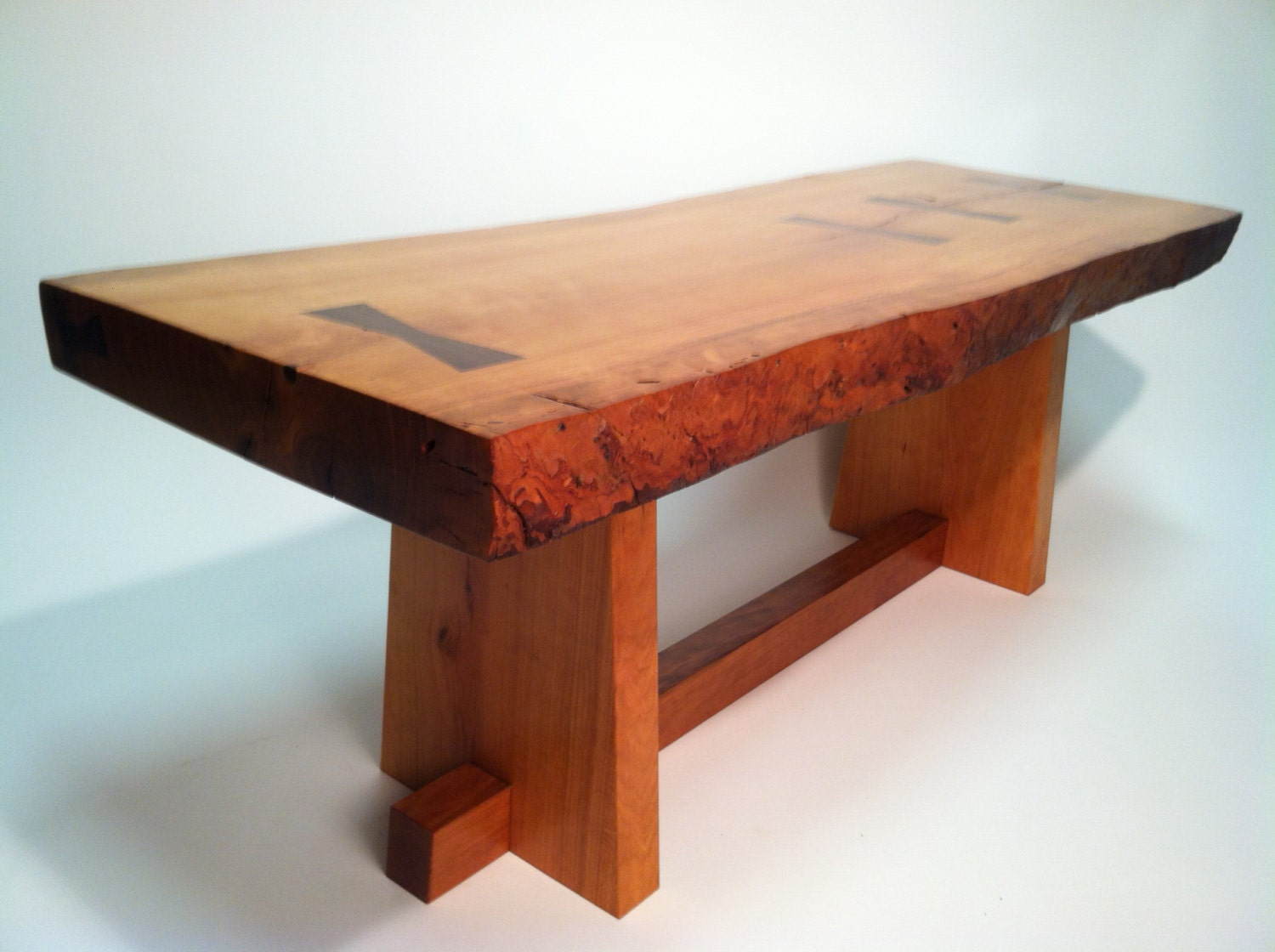 Live Edge Cherry Coffee Table Or BenchInspired By Nakashima