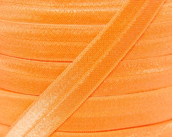 Orange Fold Over Elastic - Elastic For Baby Headbands and Hair Ties - 5 Yards of 5/8 inch FOE