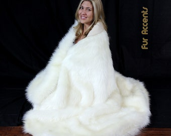Faux Fur Throw  Blanket / Luxury Shag / Minky Mink / New Sizes and Colors FUR ACCENTS