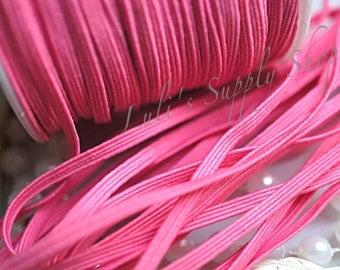 5 Yards Pink Skinny Elastic 1/8 inch Elastic - Pink Skinny Elastic - Elastic by the yard - Thin Elastic - DIY Headbands Supply