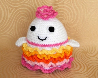 Amigurumi Crochet Pattern - Flower Monster  Pattern No.22