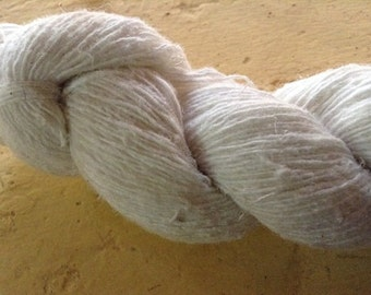 Organic Machine Spun Bleached Hemp Yarn