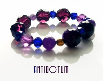 AMETHYST JADE Handmade Bracelet - Natural Stone Jewellery - Antidotum - Handmade