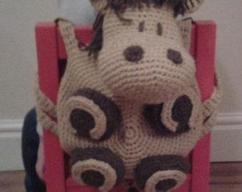Horse Kid's Backpack Bag Amigurumi Pyjama Case Crochet PATTERN by Peach.Unicorn