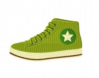 Green Sneakers Machine Embroidery Design