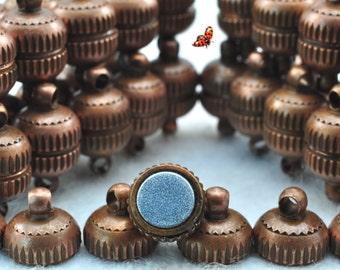 Antiqued copper Magnetic Clasp 8x14mm,10 Set