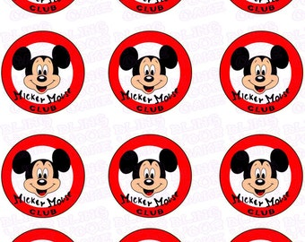 Disney Mickey Mouse Club Inspired Edible Icing Cupcake Decor Toppers