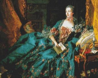 Madame de Pompadour PDF Cross Stitch Pattern