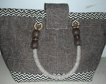 Tweed Chevron Day Bag