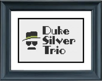 Duke Silver Trio - Parks and Recreation - PDF Cross-Stitch Pattern