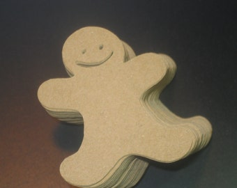 Christmas Gingerbread Man Table Confetti / Holiday Table Decor / Christmas Table Scatter / Scrapbooking Embellishments / 100 Pieces