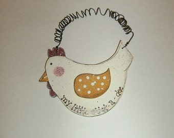 My Little Chick-a-Dee Rustic Primitive Country Wall Hanging