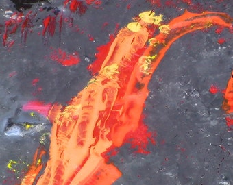 Red Hot Fire abstract painting