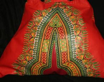 DASHIKI OOAK STATEMENT Bag Orange color