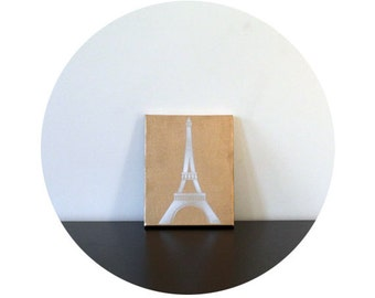 WHISKEY AND ICE | Paris Eiffel Tower Canvas