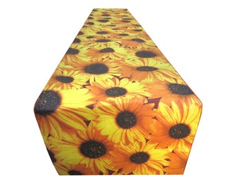 Decorative Cotton in Sunflower Print Table Runner.