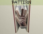 Book folding Pattern: HAND on HAND design (including instructions) – DIY gift – Papercraft Tutorial