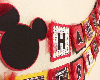Mickey Mouse Birthday Banner PACKAGE