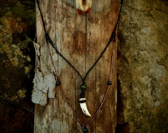 Necklace with white fang