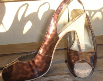 Leopard Print Shoes, Leopard Sandals, Open Toe Leopard Pumps, Pumps Size 8, Open Toe Shoes, Ladies Sandals, Animal Print Ladies Shoes