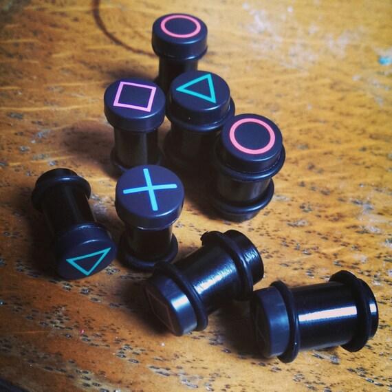 Custom Playstation Large Gauge Earrings/Plugs Made by ...
