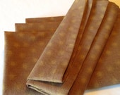 Cloth Dinner Napkins - Fun, Autumn Colored, Light Brown & Tan Star Patterned - TheCleverSeam