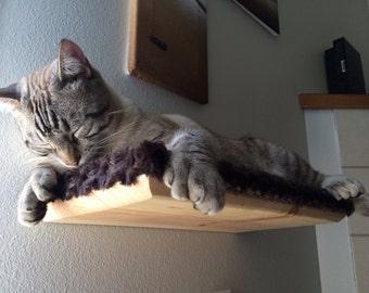 """18"""" Cat Shelf Covered in Plush Fabric"""