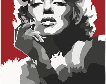 Marilyn Monroe Digital Art Print....