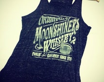 NEW STYLE! Flowy Racerback Tank Top - Vintage Original Moonshiners Whiskey Florida Georgia Line and Watershed Music Festival Top