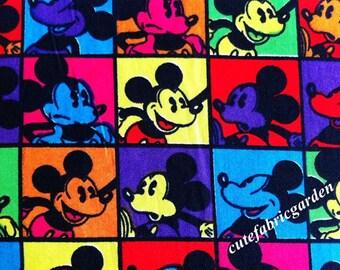 Cotton Fabric - 1 Meter Animal Cartoon - Cartoon Character - Mickey Mouse (W140cm)