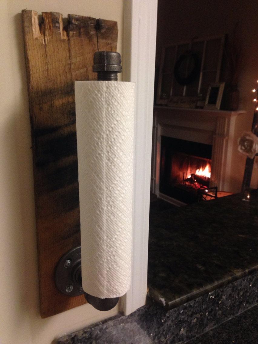 Rustic Industrial Towel Holder Kitchen Bathroom By