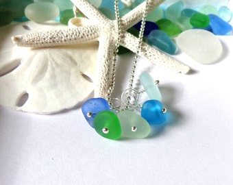 Sea Glass Garden Leaf Seaside Colors Necklace