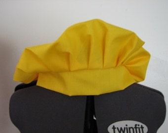 Medieval Renaissance Yellow Gold Cotton Muffin Cap Hat