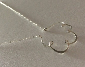 Up in the sky. Sterling silver Cloud necklace.
