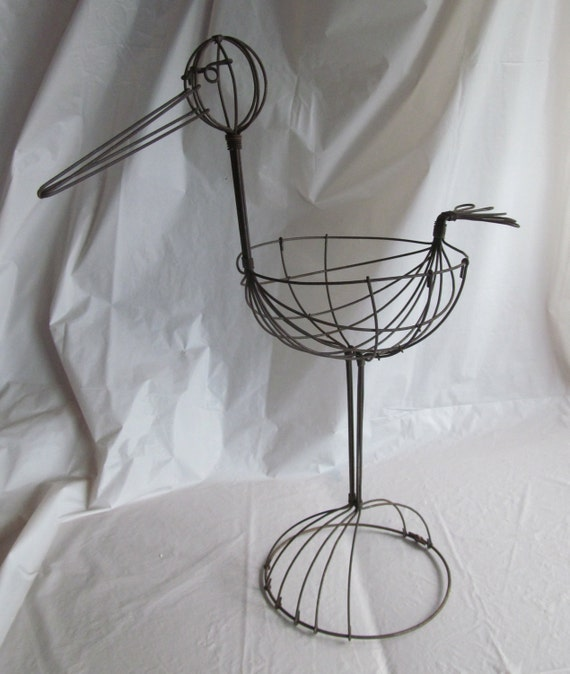 Vintage Wire Baby Shower Stork Decoration by RustyWireBoutique